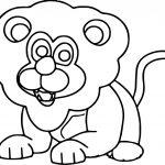 Lion Cute Animal Kingdom Coloring Page
