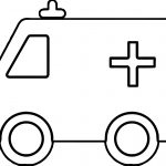 Little Box Ambulance Car Coloring Page