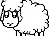 Looking Sheep Coloring Page