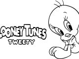Looney Tunes Tweety Coloring Page