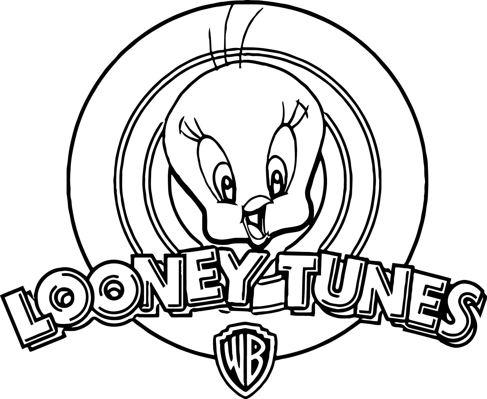 Looney Tunes Warner Bros Tweety Coloring Page