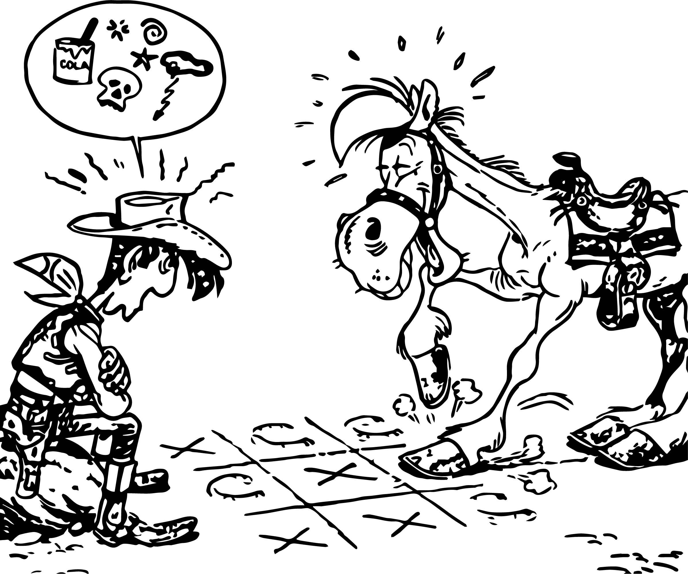 Lucky Luke Tavola Coloring Page