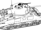 M4a375w Tank Coloring Page