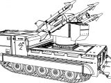 M730a1 Tank Coloring Page
