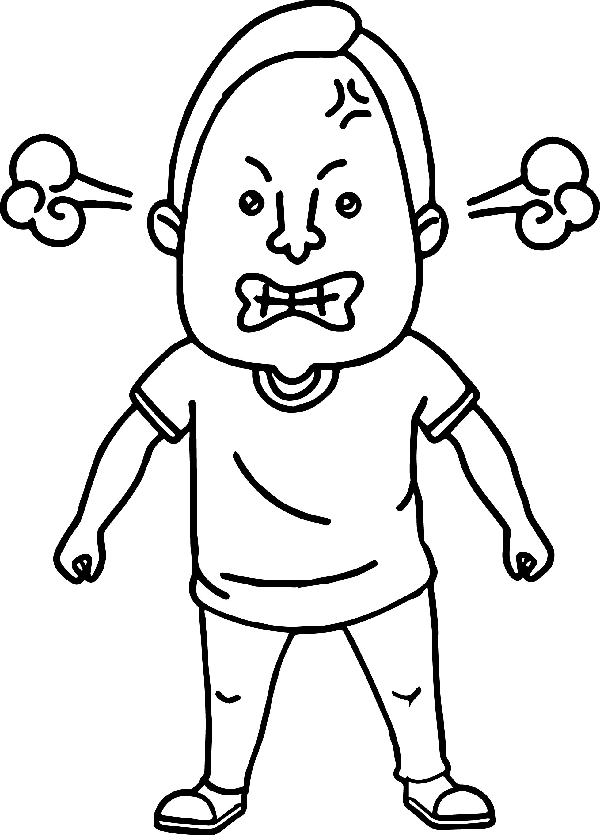 man angry coloring page wecoloringpage