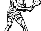 Man Kid Playing Tennis Coloring Page