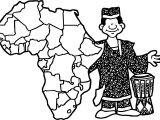 Man With African Actuality Coloring Page