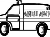 Many Ambulance Coloring Page