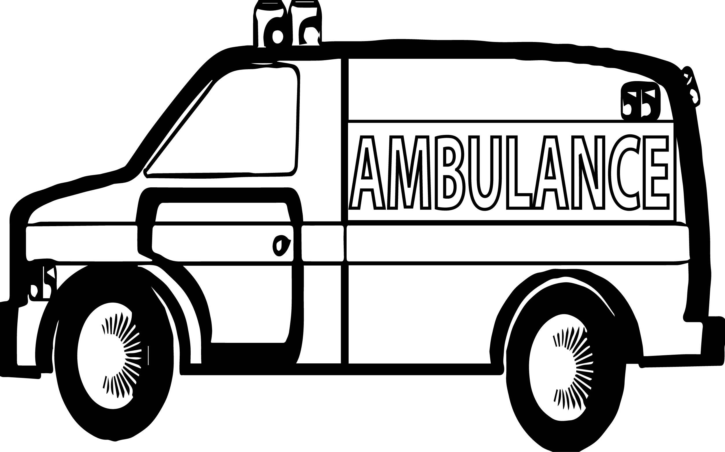 Many Ambulance Coloring Page