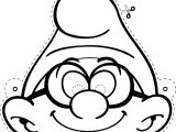 Mask Brainy Smurf Coloring Page