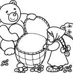Mawa Kawa Masha And Bear Forest Coloring Page