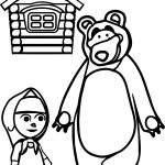 Mawa Kawa Masha And Bear Home Coloring Page