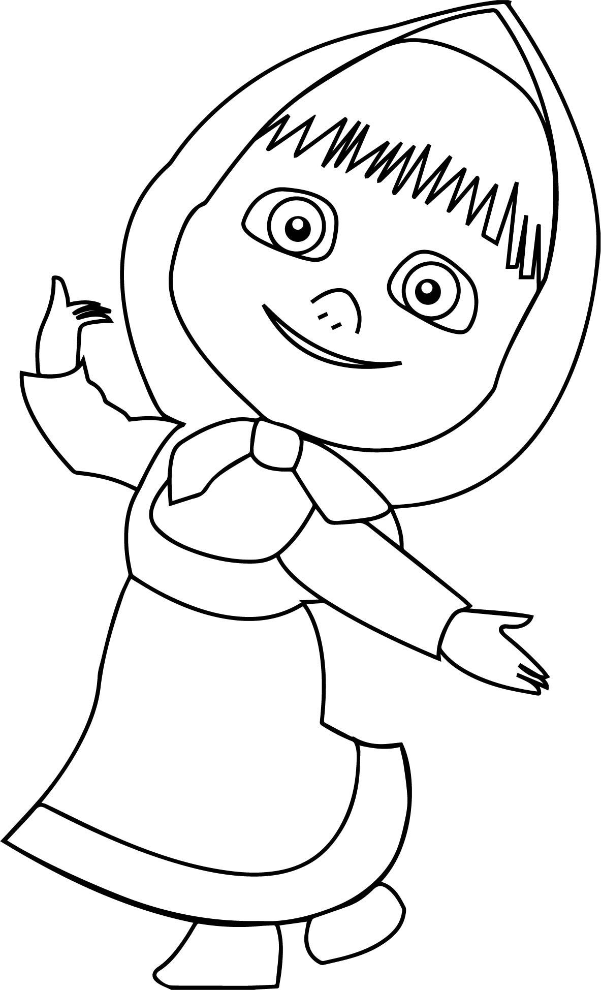 mawa kawa masha bear coloring page wecoloringpage
