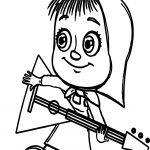 Mawa Kawa Masha Music Coloring Page