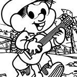 May Turma Da Monica Boy And Music Coloring Page