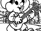 May Turma Da Monica Boy And Music Coloring Page