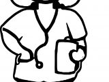 Medical Doctor Cartoon Coloring Page