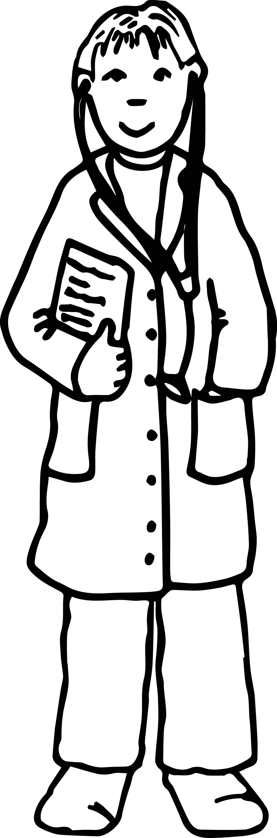 medical doctor male color coloring page wecoloringpage