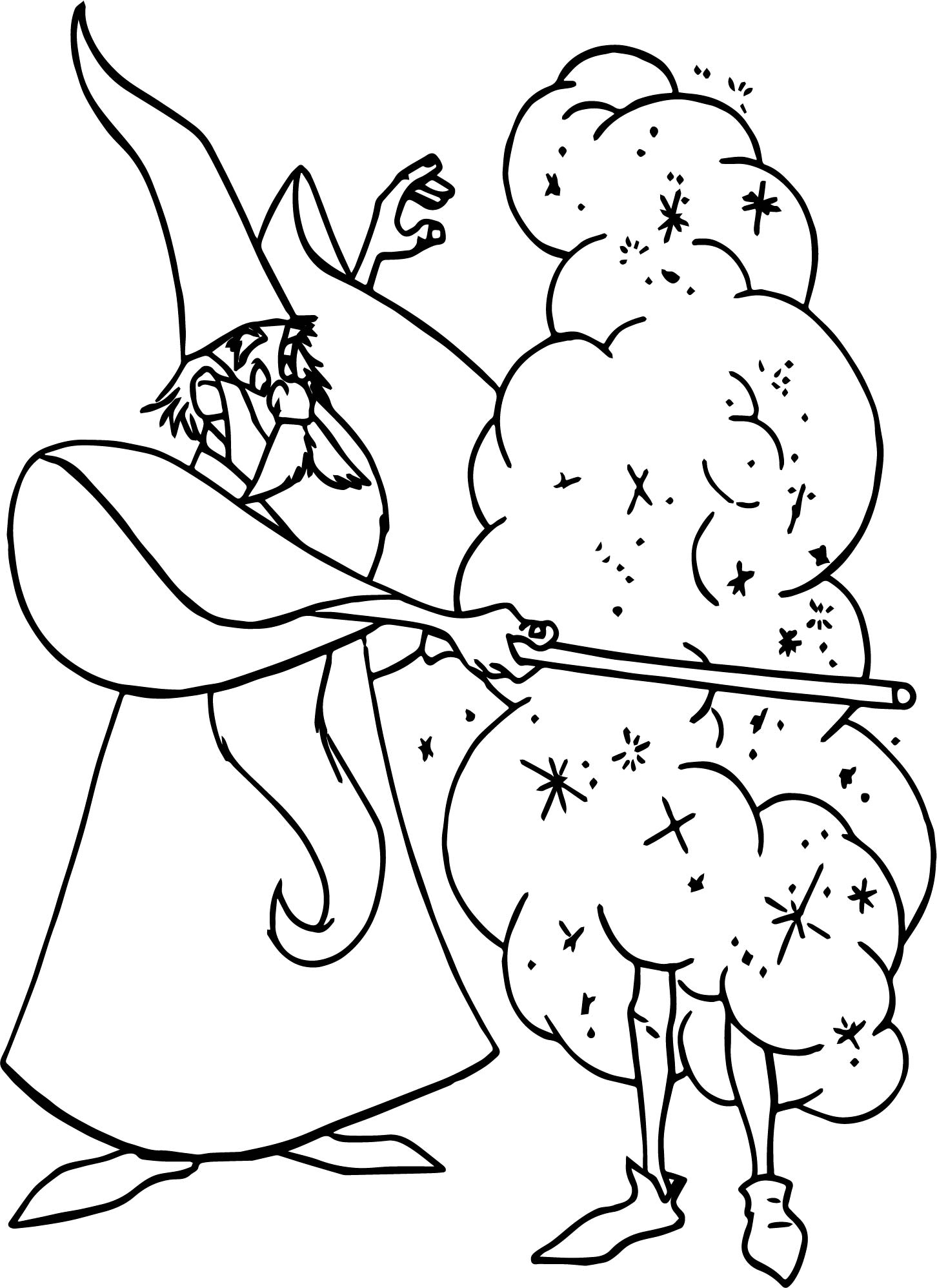 Merlin New Magic Coloring Page