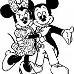 Mickey Mouse Cartoon Together Coloring Page
