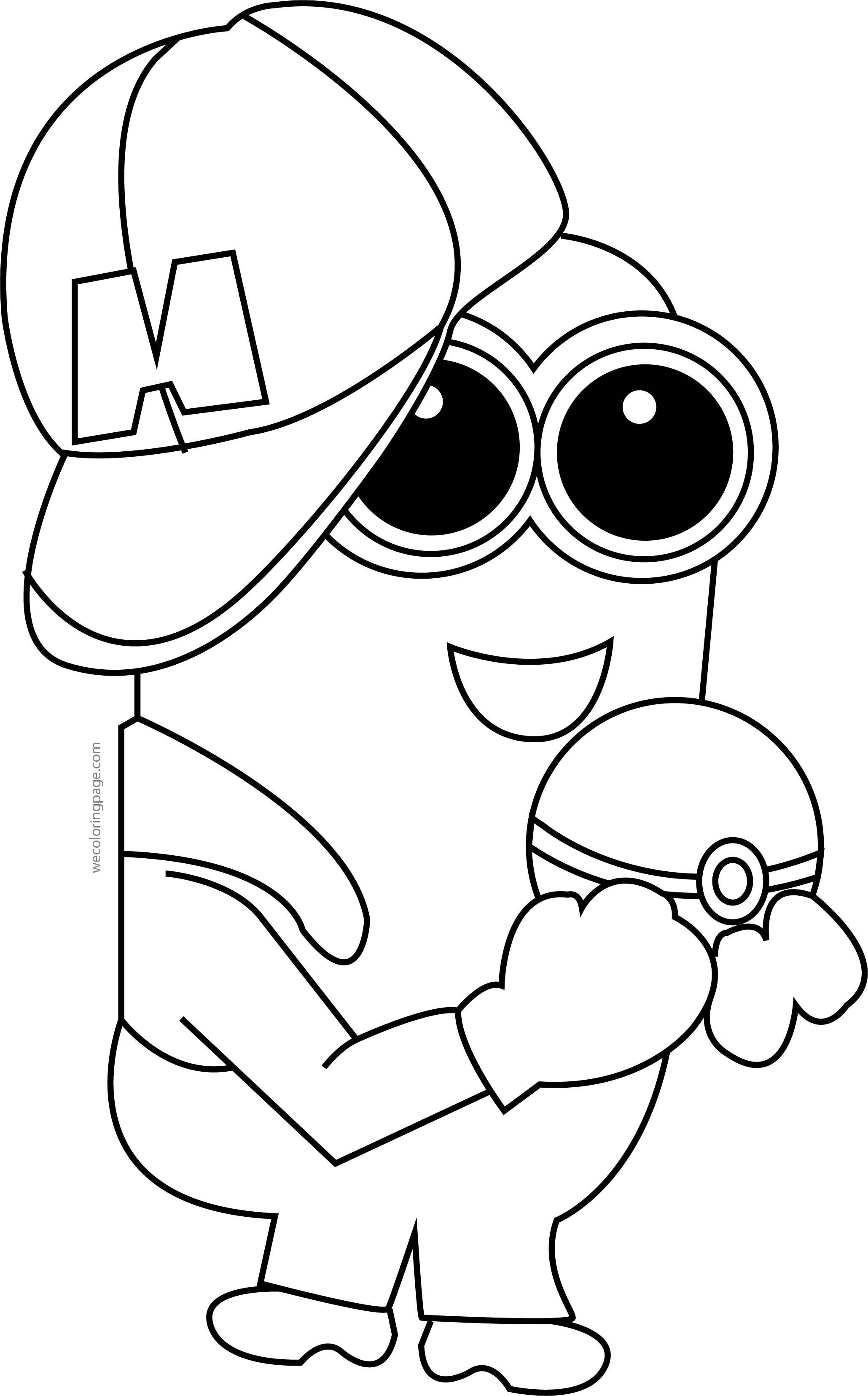 Minion pikachu pokemon coloring page for Pikachu coloring pages