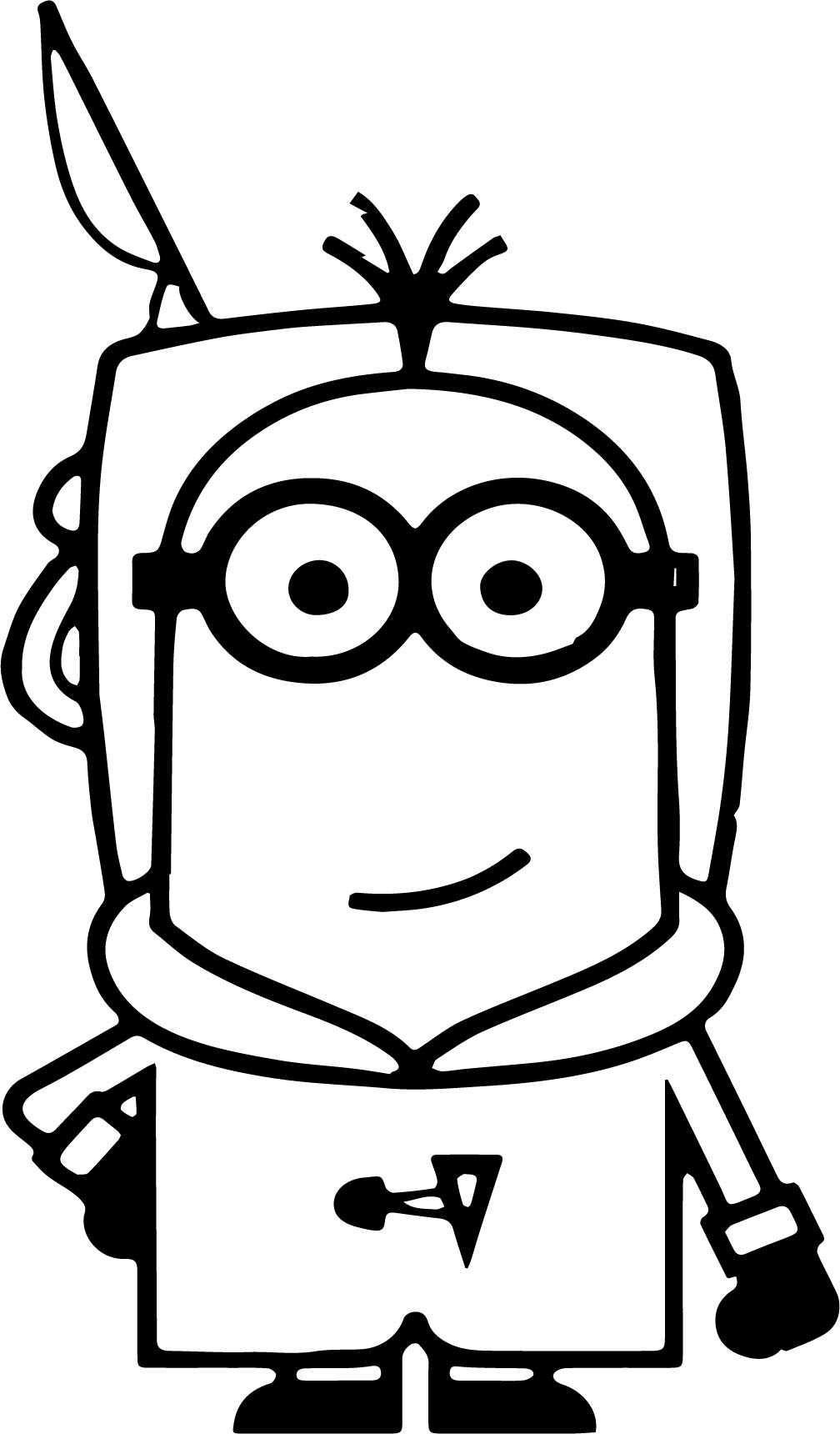 Minions Antartica Travel Coloring Page