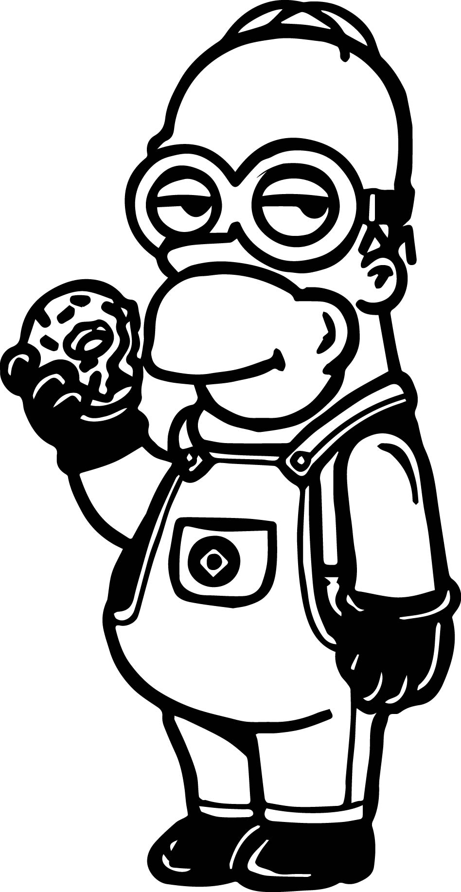 Minions bob coloring page for Minion coloring pages free