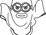 Minions Ghost Coloring Page
