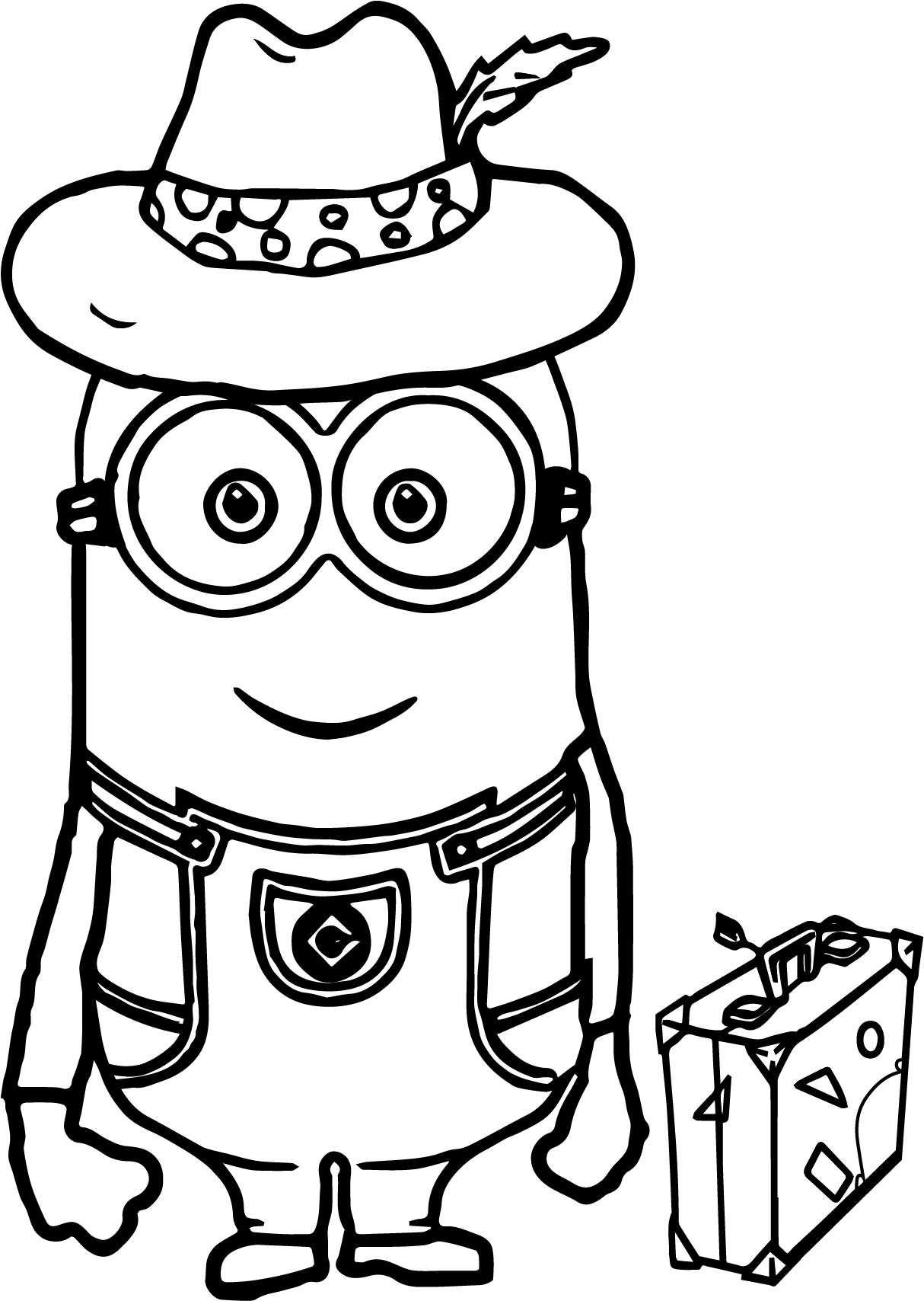 Minions Going Travel Coloring Page Wecoloringpage