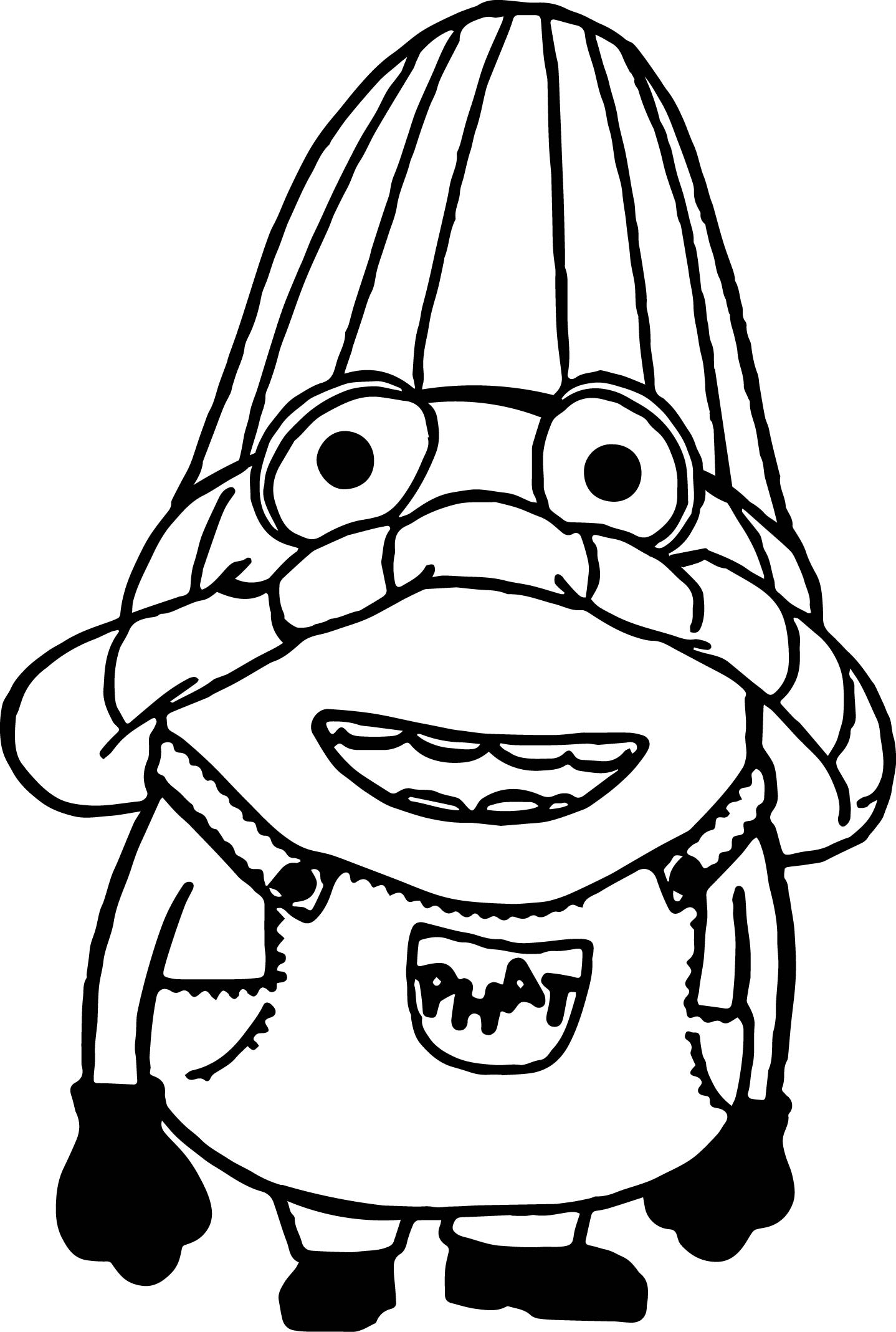 Minions Head Bag Coloring Page