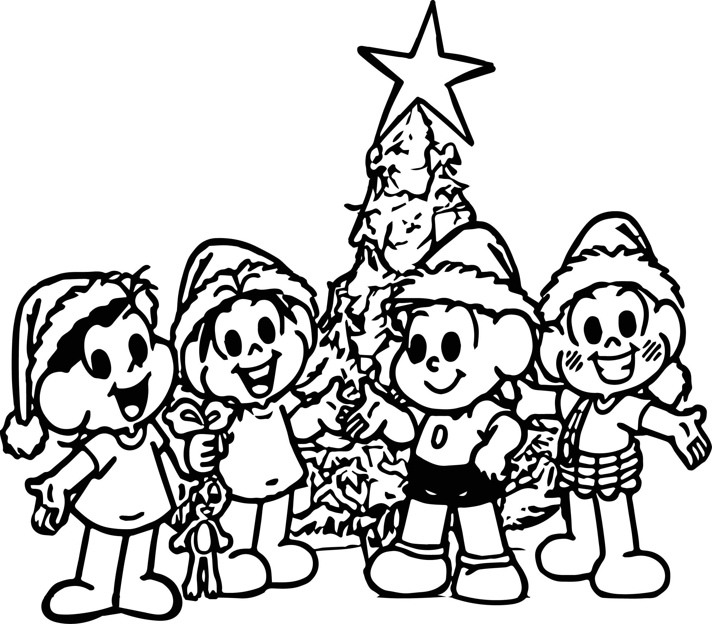 Monica And Friends Chrismas Coloring Page