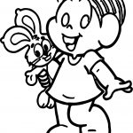 Monica Girl Bunny Coloring Page