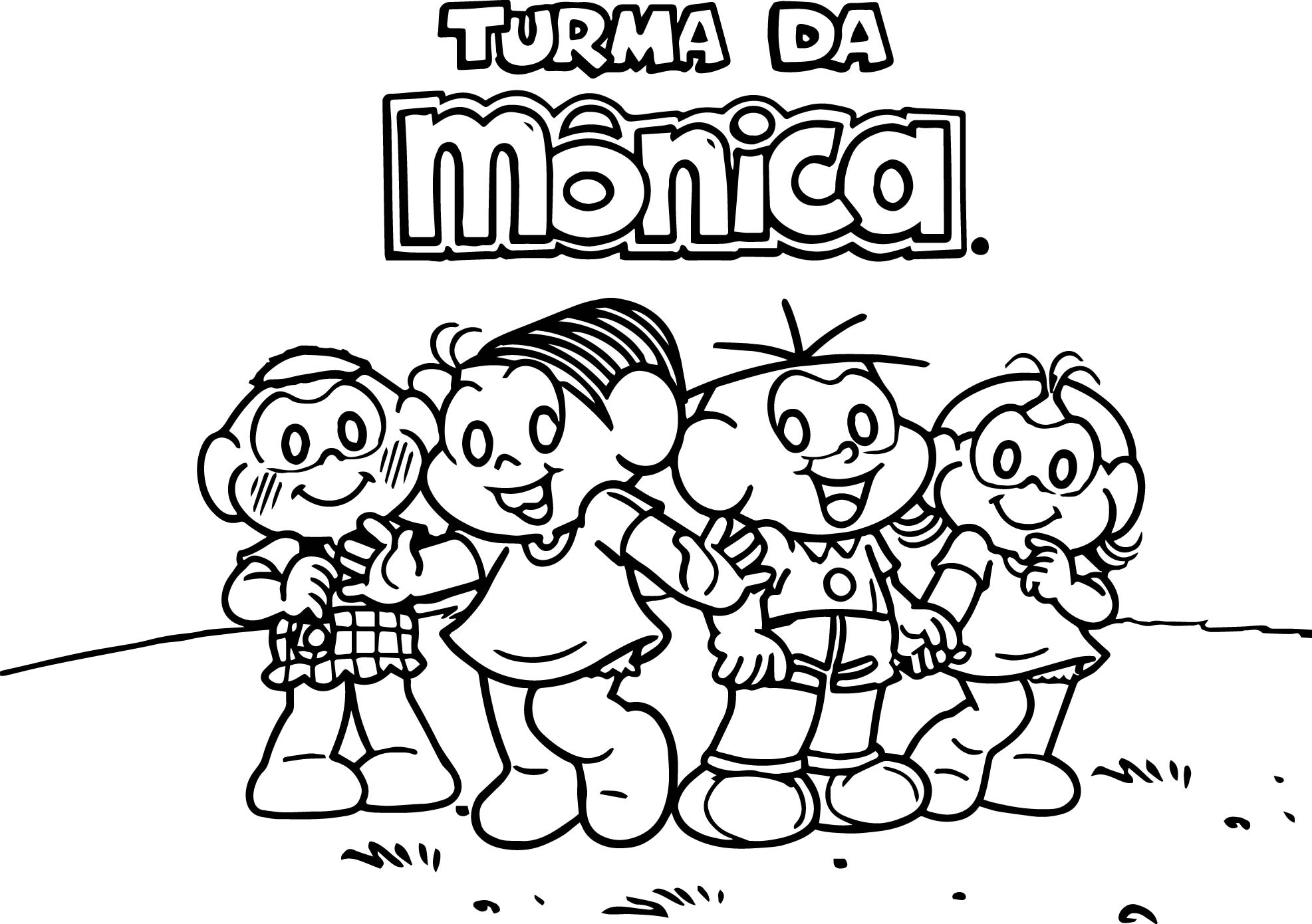 Monica Happy Kids Coloring Page