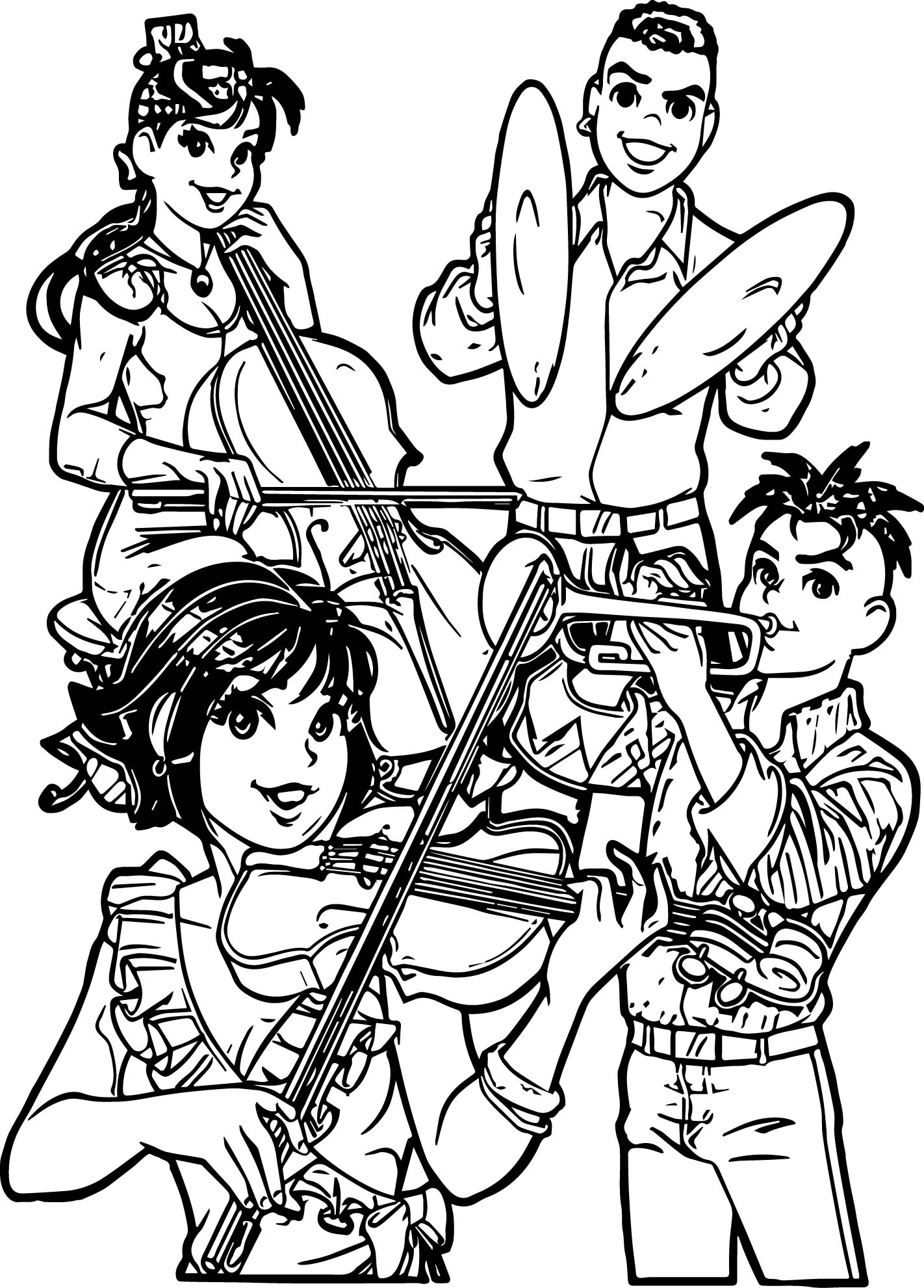 Monica Music Group Coloring Page