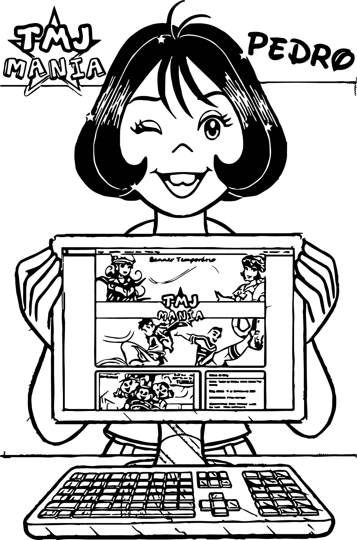 Monica TMJ Mania Picture Computer Coloring Page