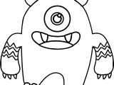 Monster Alien Big Cute Coloring Page