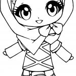 Muslim Anime Girl Coloring Page