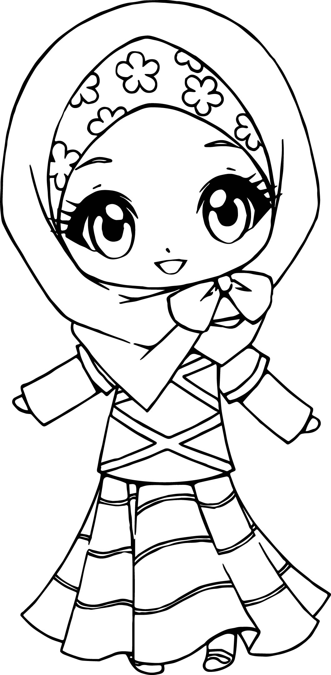 muslim anime coloring page wecoloringpage