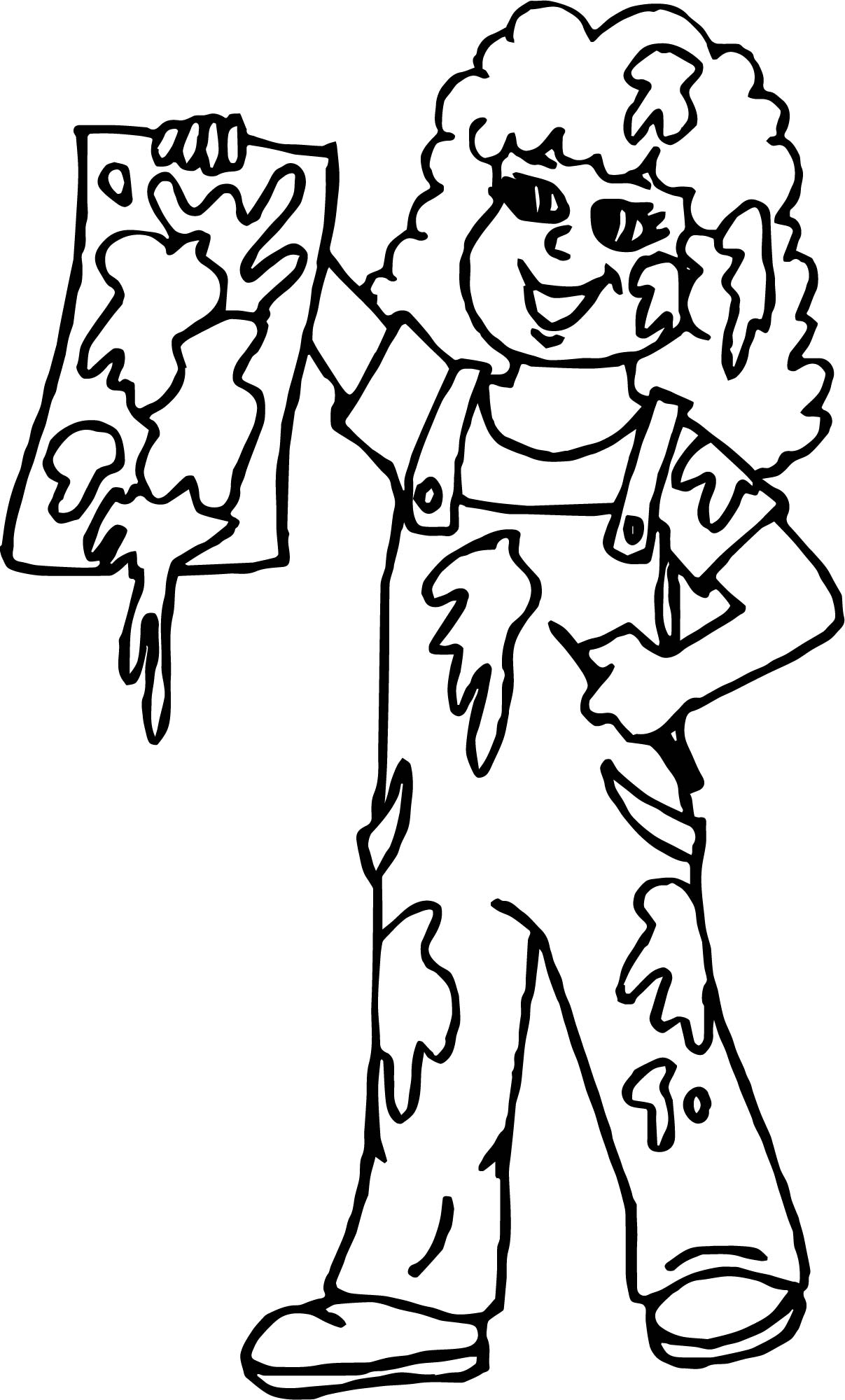 My Paint Girl Painter Coloring Page