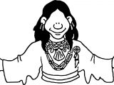 Na Woodlands American Indian Coloring Page