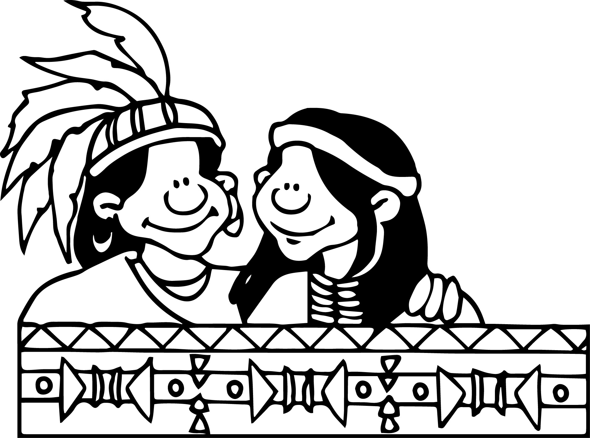 Native American Amhis Native Americans Coloring Page
