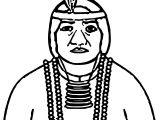 Native American Big Woman Indian Coloring Page