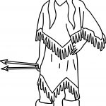 Native American Indian Arrow Girl Coloring Page