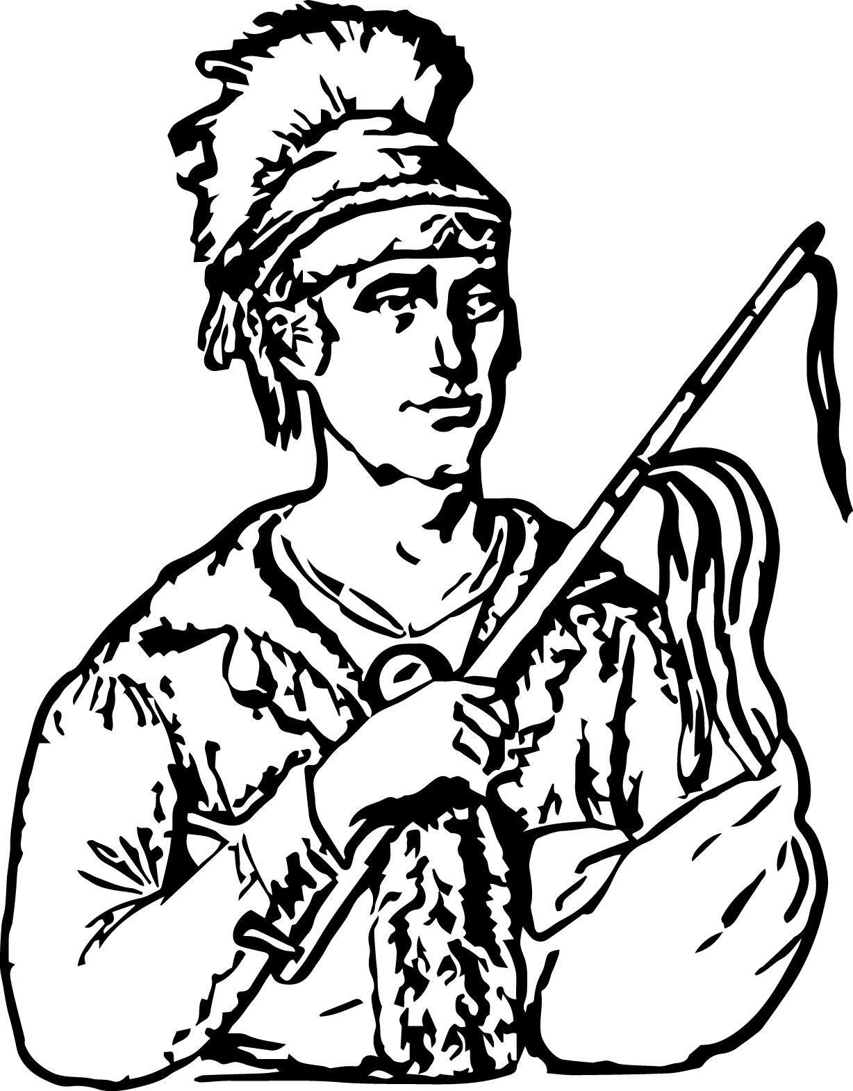 coloring pages indian chief - photo#15