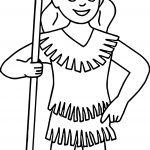 Native American Indian Girl Coloring Pages