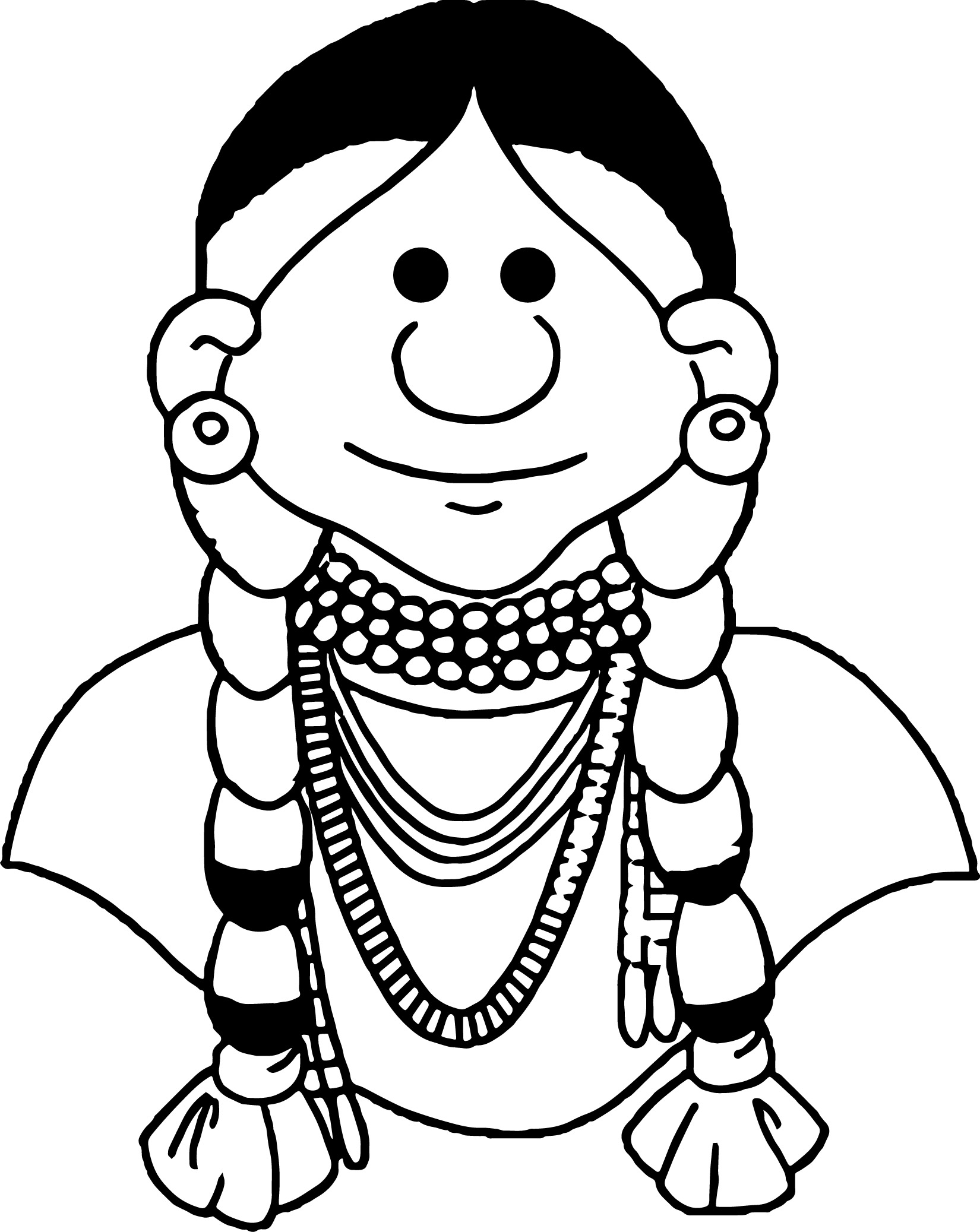 Native American Indian Woman Coloring Page