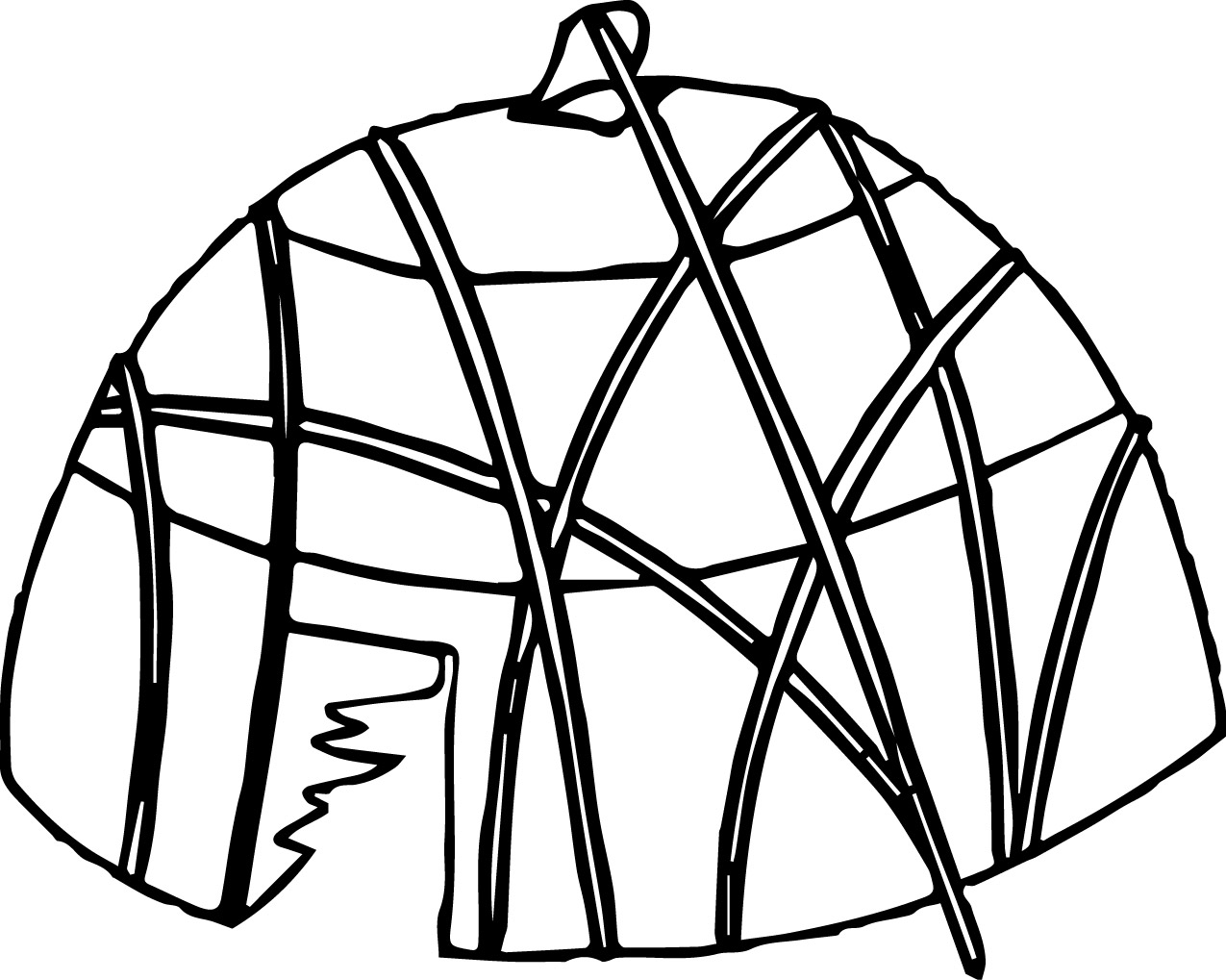 Native Americans Tent Coloring Page