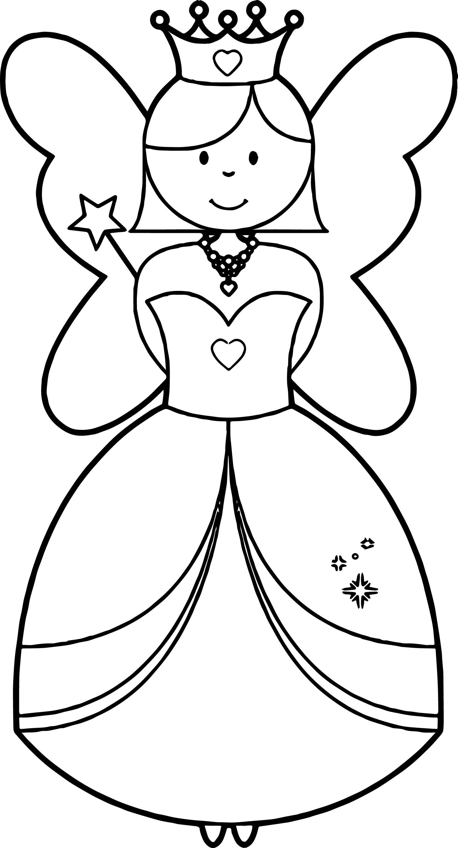 New Angel Princess Coloring Page