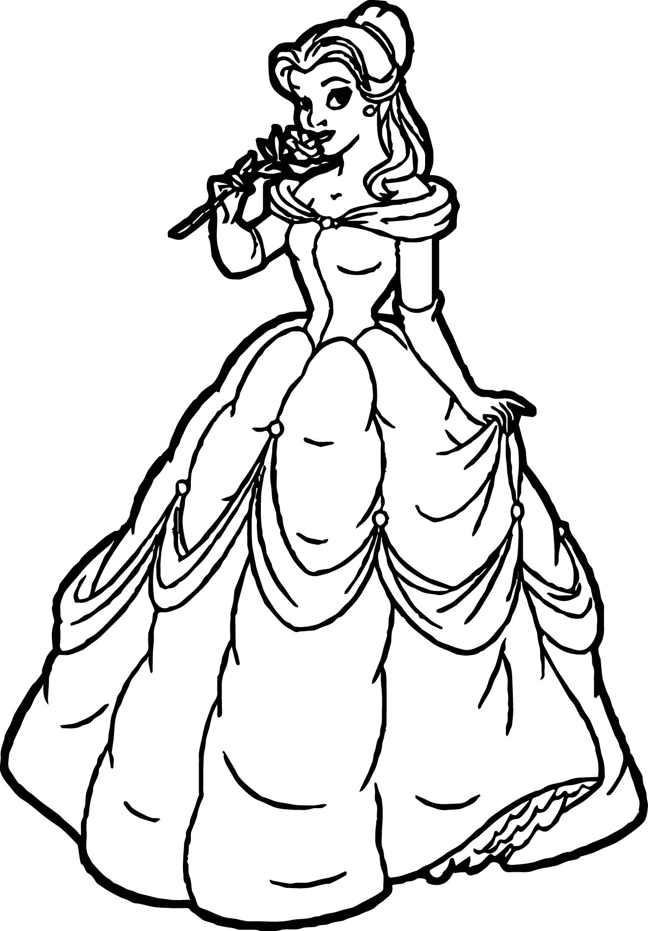 New Belle Disney Princess Coloring Page