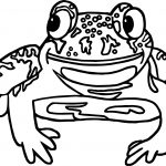 New Mexico Frog Amphibian Coloring Page